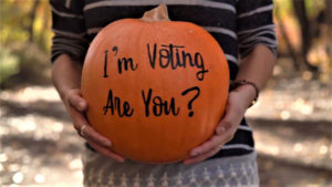 voter registration pumpkin