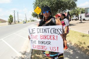 protesters in mcallen, tx