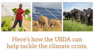 USDA tackles climate crisis