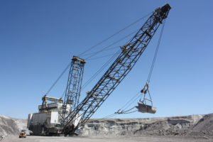 halted coal mining equipment