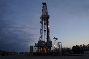 fracking oil and gas well pad