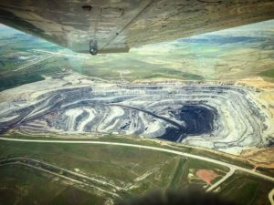 coal mine from air