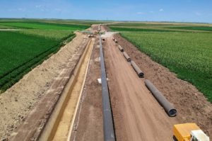 KXL pipeline cuts through farm