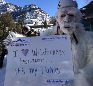 Yeti loves san juan mountains wilderness act