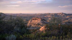 beautiful vista over teddy roosevelt national park